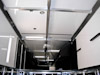 Kahne Racing T&E 53' Semi Sprint Trailer - Interior View - Upper Level Storage with Trolley System