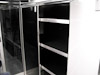 Kahne Racing T&E 53' Semi Sprint Trailer - Interior View - Storage Cabinets With Shelving